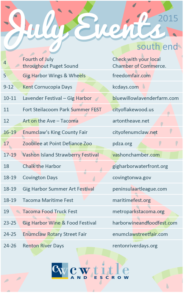 South End July Events